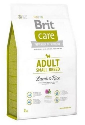 BRIT CARE HYPOALLERGENIC ADULT SMALL BREED LAMB & RICE 3 kg